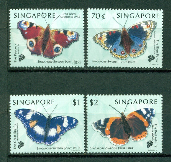 Singapore Scott #903-906 MNH Butterflies FAUNA CV$6+