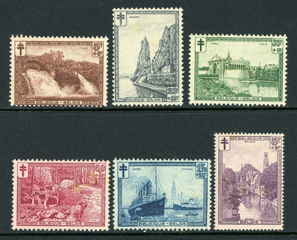 Belgium Scott #B93-B98 MLH Famous Places and Buildings CV$47+