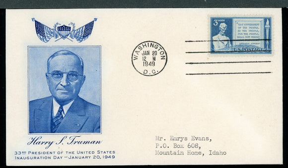 United States Harry Truman Cover 1949 INAUGURATION #3 $$$