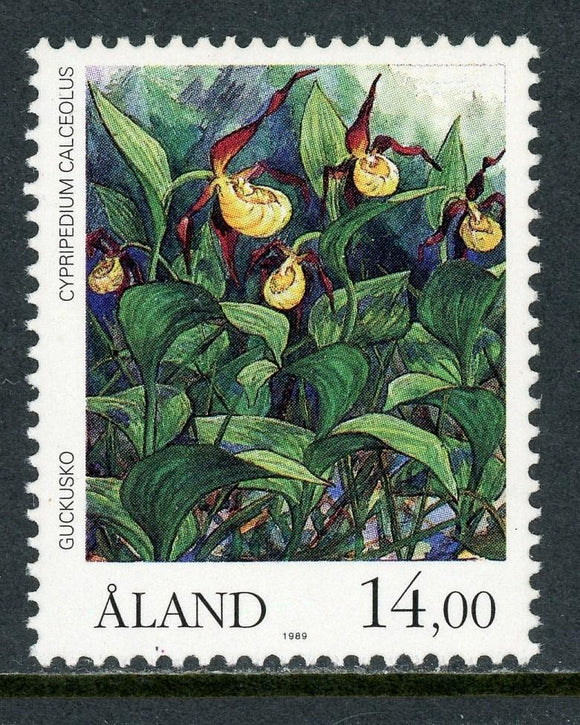 Aland Islands Scott #56 MNH Flowers Orchids FLORA 14m CV$9+