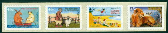 Australia Scott #1551b SA STRIP of 4 Children's Book Council CV$8+ ISH-1