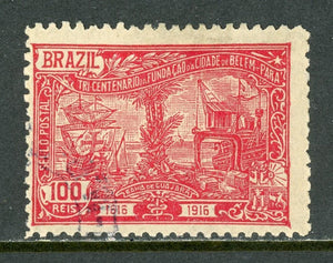 Brazil Scott #196 U City of Belem 300th ANN Ships CV$6+
