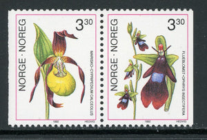 Norway Scott #972-973 MNH PAIR Flora/Flowers Orchids CV$2+