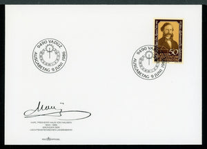 Liechtenstein Scott #847 FIRST DAY COVER Karl Freiherr Haus von Hausen $$ TH-1