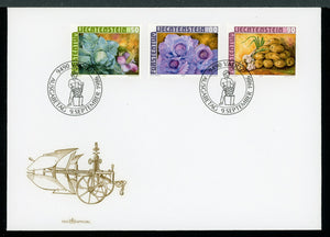 Liechtenstein Scott #852-854 FIRST DAY COVER Crops $$ TH-1