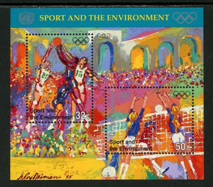 UN-New York Scott #685 MNH S/S Sports and the Environment CV$2+ TH-1