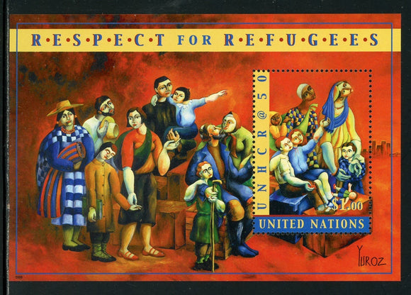 UN-New York Scott #788 MNH S/S Respect for Refugees $$ TH-1