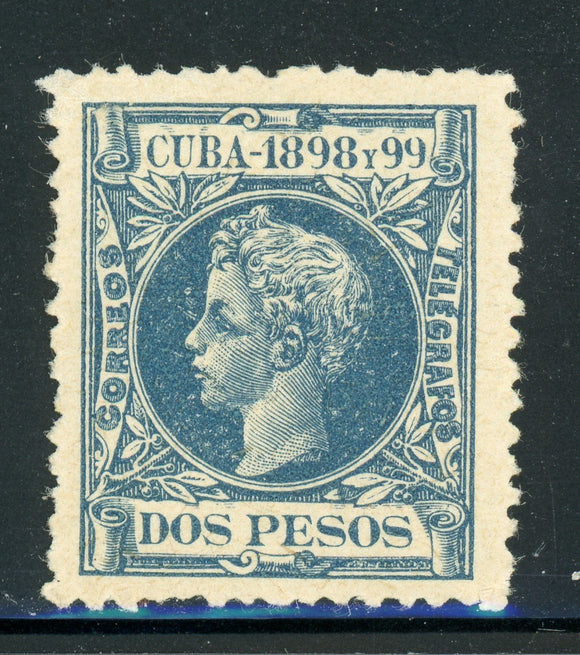 Cuba MLH Selections: Scott #175 2P Blue King Alfonso XIII (1898) CV$35+