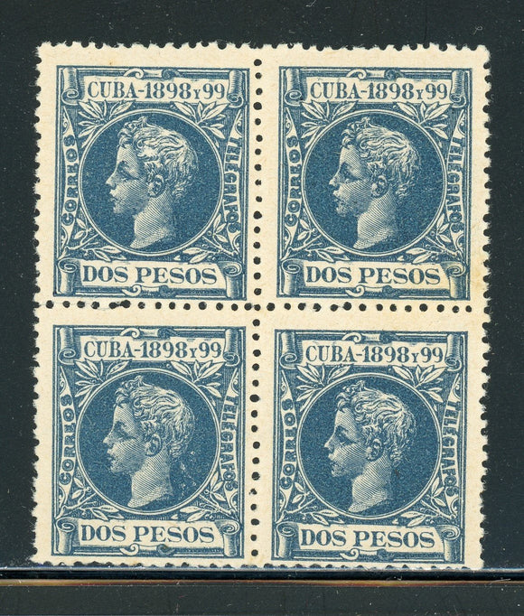 Cuba MLH Selections: Scott #175 2P Blue King Alfonso XIII (1898) CV$140+