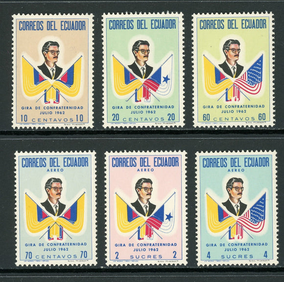 Ecuador Scott #691//C411 MNH Pres. Arosemena Flags CV$2+