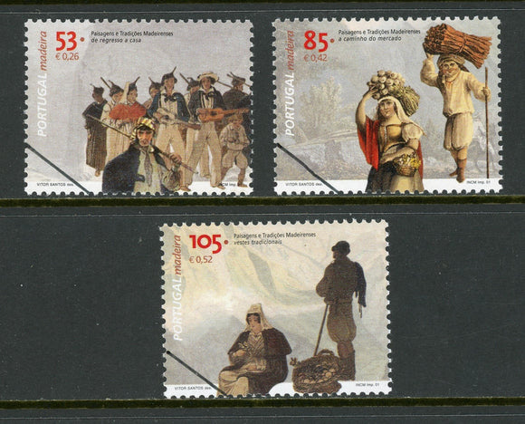 Madeira Scott #217-219 MNH SPECIMEN Scenes of Traditional Life $$