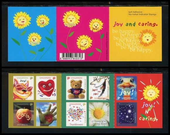 Singapore Scott #1060 SA BOOKLET COMPLETE Joy and Caring CV$5+