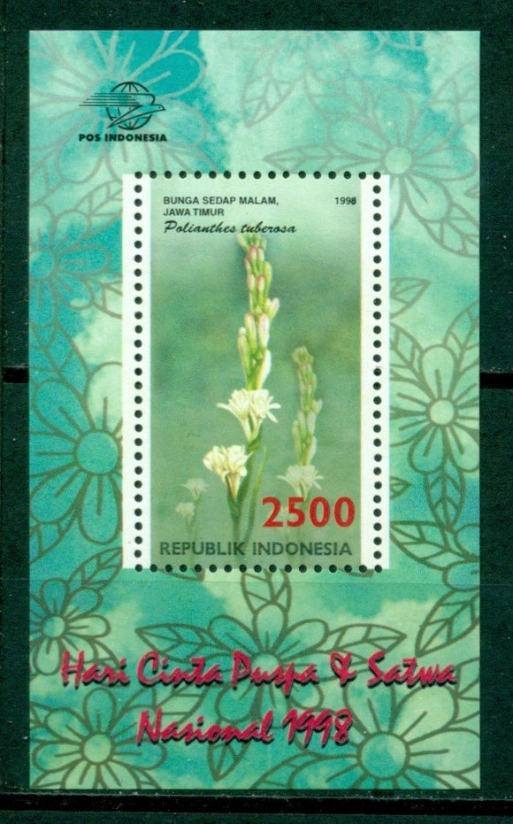 Indonesia Scott #1813 MNH S/S Flowers FLORA $$