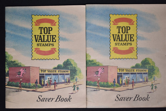 Trading Stamps LOT #4 TOP VALUE Saver Books (2) USED w/Stamps SEE PHOTOS $$$
