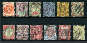 Great Britain Used VICTORIA: Scott #111-122 Complete Series #2 CV$274+