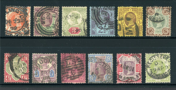 Great Britain Used VICTORIA: Scott #111-122 Complete Series #5 CV$274+
