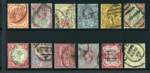 Great Britain Used VICTORIA: Scott #111-122 Complete Series #6 CV$274+