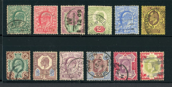 Great Britain Used KEVII: Scott #127-138 Assortment #1 CV$338+