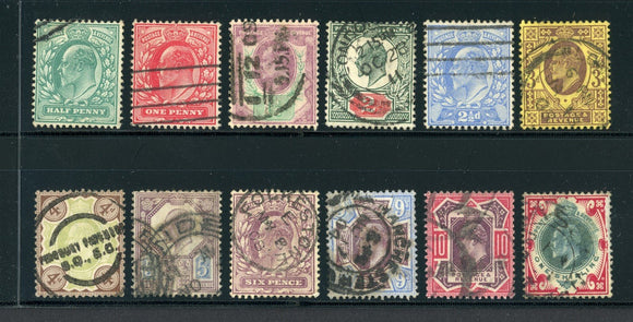 Great Britain Used KEVII: Scott #127-138 Assortment #3 CV$338+