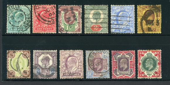 Great Britain Used KEVII: Scott #127-138 Assortment #4 CV$338+