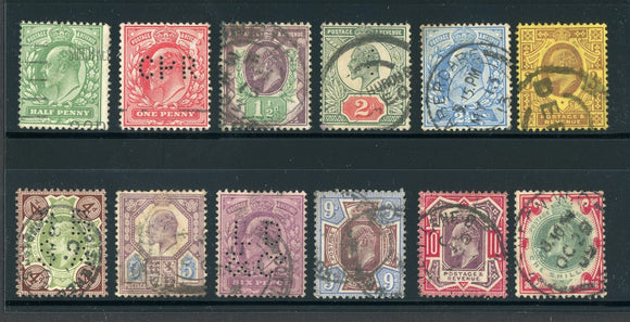 Great Britain Used KEVII: Scott #127-138 Assortment #5 CV$338+