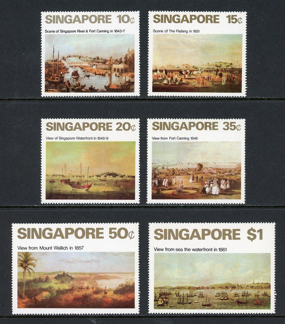 Singapore Scott #144-149 MNH Views of Singapore 19th Century ART CV$60+