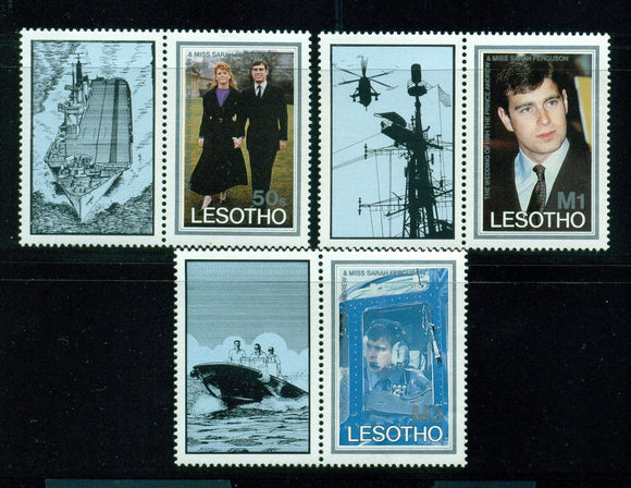 Lesotho Scott #545-547 MNH Prince Andrew and Miss Ferguson Wedding CV$3+ os1