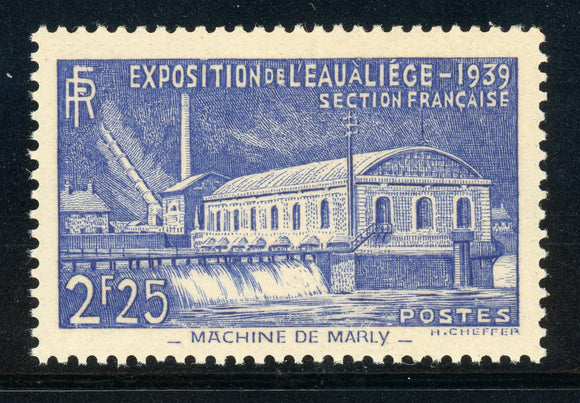 FRANCE MNH: Scott #388 2.25Fr Pumping Station MARLY CV$25+