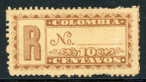 Colombia MH Back of Book: Scott #F12 10c Yellow Brown/Buff CV$2+