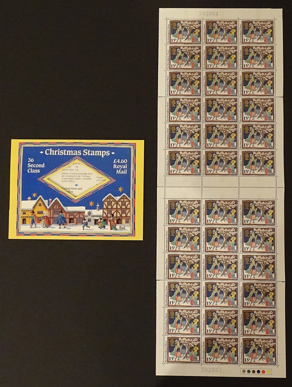 Great Britain Scott #1163a MNH PANE Christmas 1986 CV$12+ ISH-1