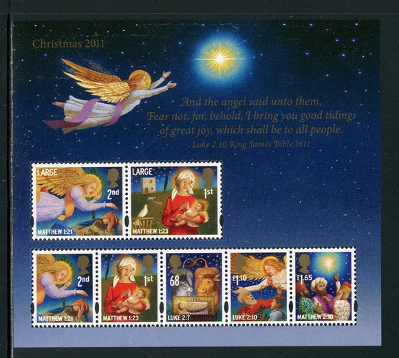 Great Britain Scott #2973 MNH SHEET of 7 Christmas 2011 CV$17+ ISH-1