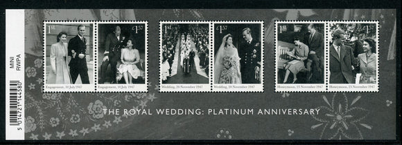 Great Britain Scott #3678 MNH S/S Royal Wedding 70th ANN CV$18+ ISH-1