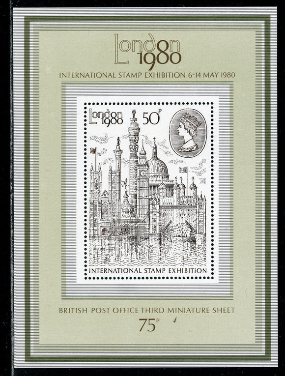Great Britain Scott #909a MNH S/S London '80 Stamp EXPO London View $$ ISH-1