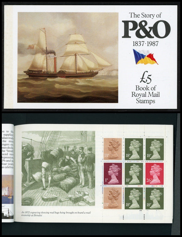 Great Britain Scott #BK151 MNH BOOKLET The Story of the P&O Line CV$17+ ISH-1
