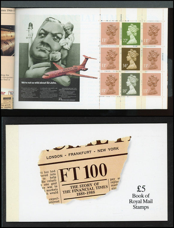 Great Britain Scott #BK152 MNH BOOKLET The Financial Times CV$32+ ISH-1