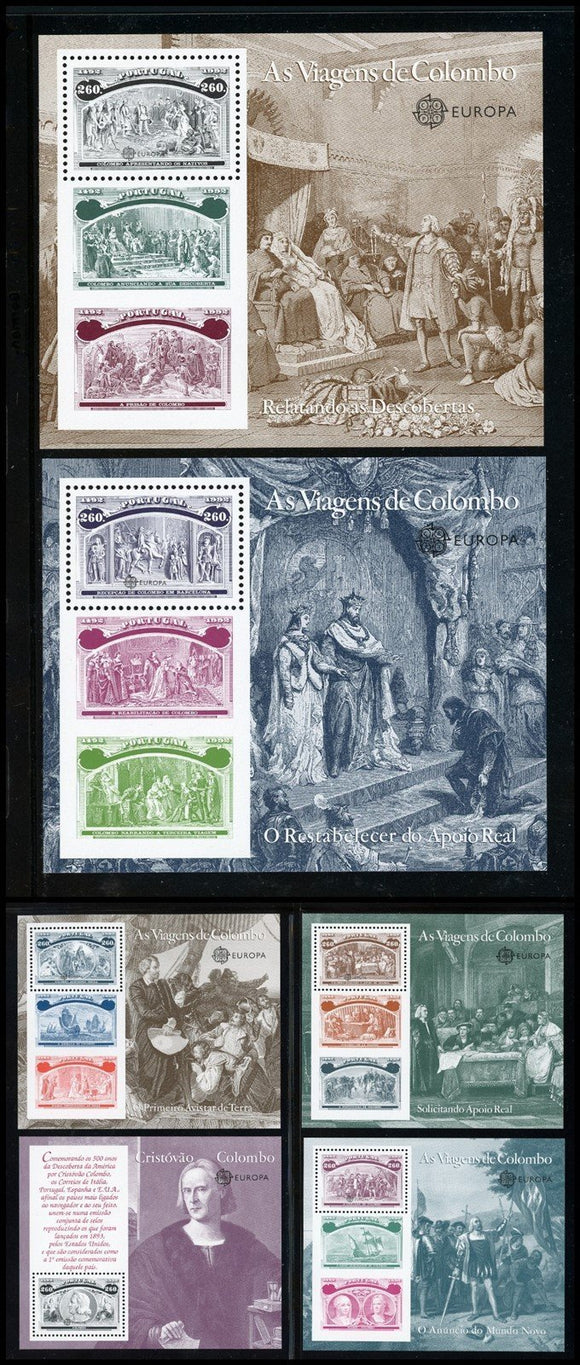 Portugal Scott #1918-1923 MNH S/S Voyages of Columbus Europa CV$27+ ISH-1
