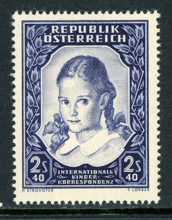 Austria Scott #583 MNH School Girl CV$12+ ISH-1