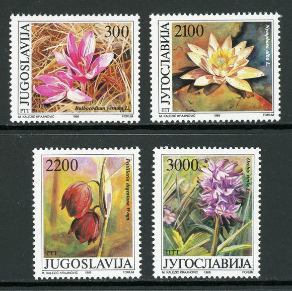 Yugoslavia Scott #1953-1956 MNH Flowering Plants FLORA CV$4+ ISH-1
