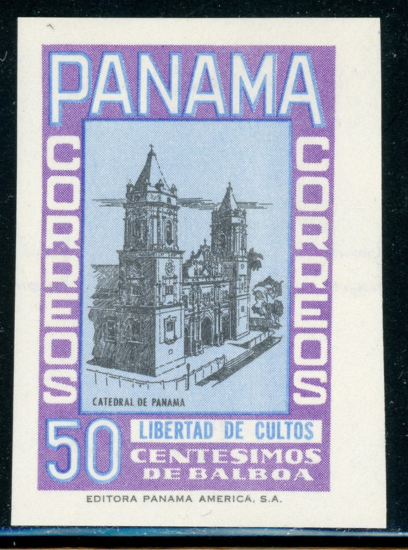 PANAMA Specialized: 50c MLH Church Type Unadopted Essay $$$