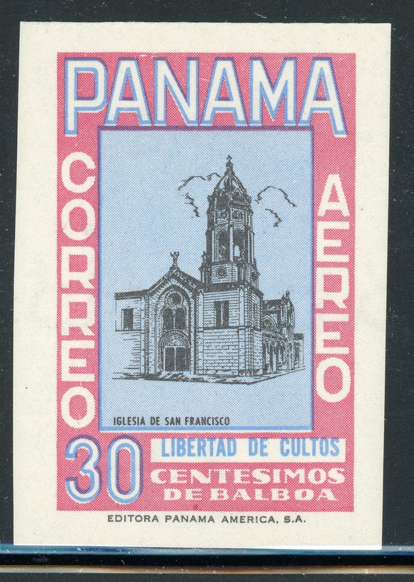 PANAMA Specialized: 30c MLH Church Type Unadopted Essay AIR POST $$$