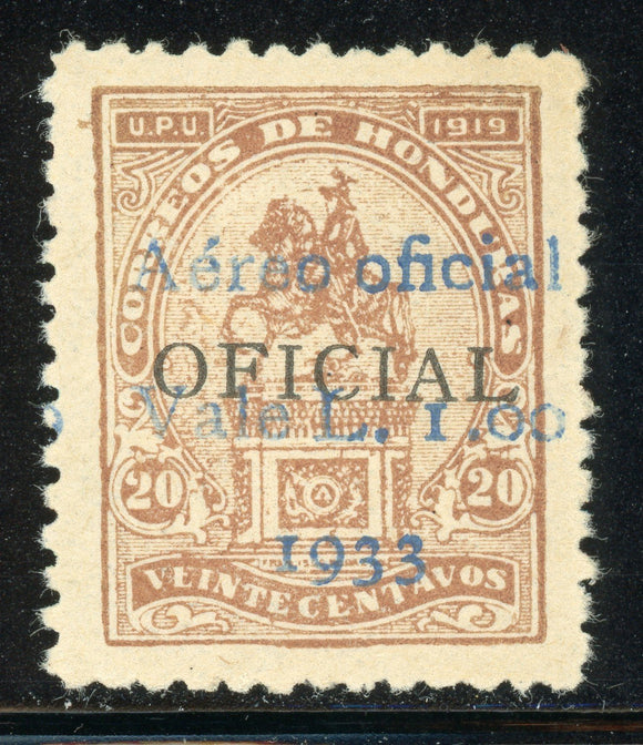 Honduras MNH LEMPIRA Specialized: SANABRIA #170 1L/20c Brown BLUE $$$