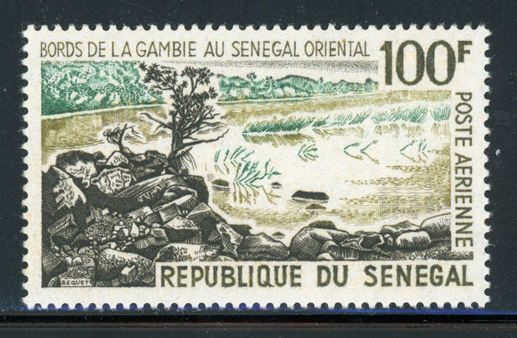 SENEGAL MNH Air Post: Scott #C41 100Fr Shore of Gambia River CV$2+