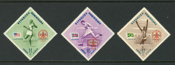 Dominican Republic Scott #CB4-CB6 MNH SCHG Scouting on OLYMPICS 1956 CV$2+