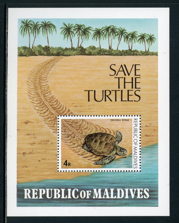 Maldive Islands Scott #847 MNH S/S Sea Turtles FAUNA $$