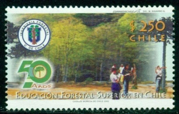 Chile Scott #1409 MNH Forestry Education Flora $$
