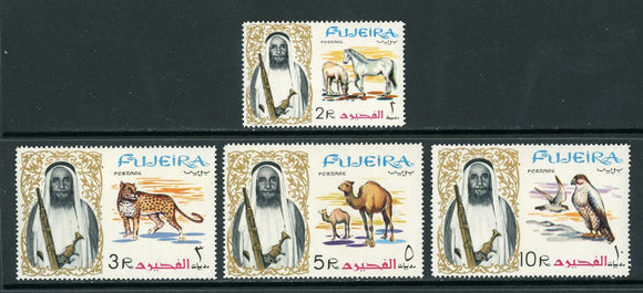 Fujeira Scott #15-18 MNH Sheik and Animals FAUNA CV$13+ TH-1