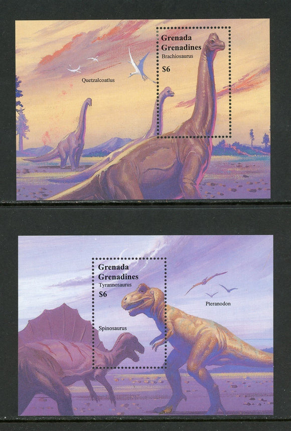 Grenada Grenadines Scott #1644-1645 MNH S/S Dinosaurs CV$11+ TH-1