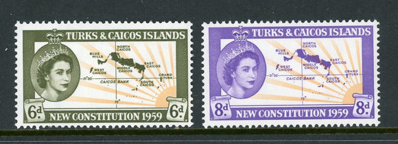 Turks & Caicos Islands Scott #136-137 MNH New Constitution $$