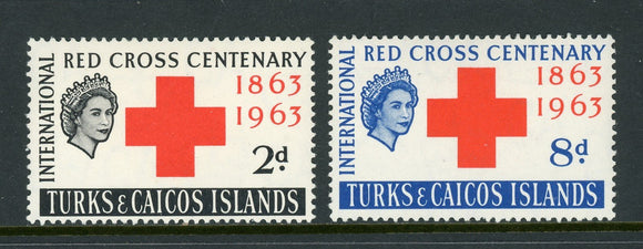Turks & Caicos Islands Scott #139-140 MLH Red Cross Centenary $$