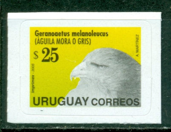Uruguay Scott #1675d SA Eagle's Head 25p DATED